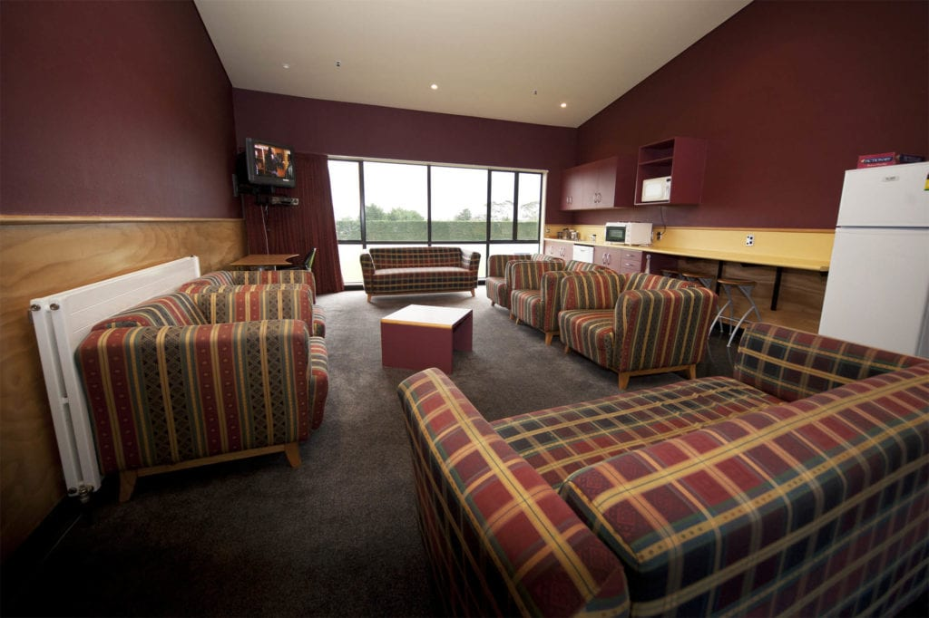 Massey Sport and Rugby Institute Accommodation Block common rooms