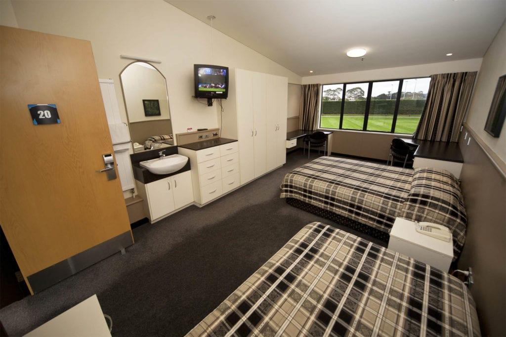 Massey Sport & Rugby Institute Accommodation Block rooms